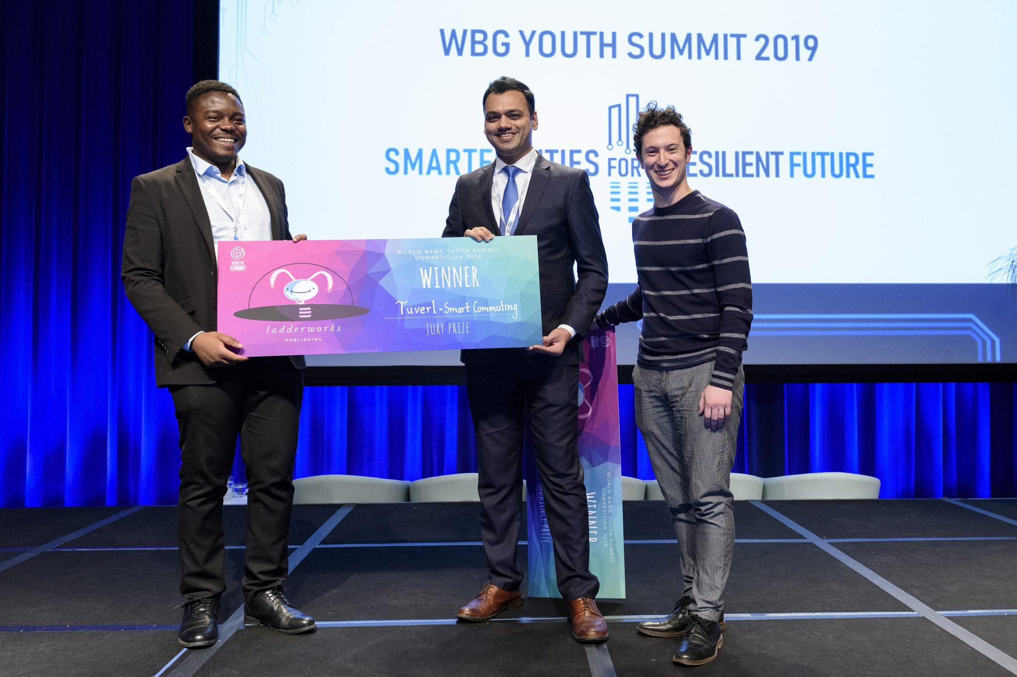 World Bank Youth Summit Ceremony Ladderworks Award for Tuverl