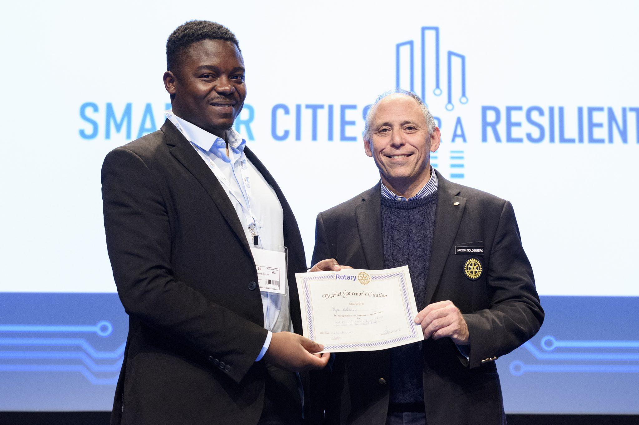 World Bank Youth Summit Award CeremonyRotary Intl Award for Tuverl.